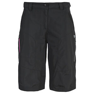 Trespass-Sinem-Womens-Longer-Length-Shorts-Active-Walking-Cycling-Black-Colour
