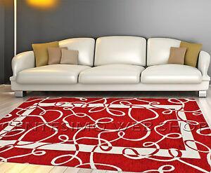 Tappeti Soggiorno Moderno : Tappeto moderno arredo in misure rosso soggiorno cucina sala