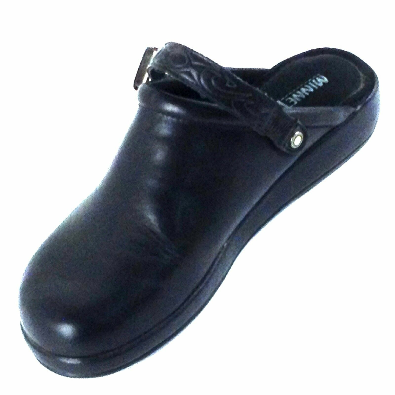 Minnetonka, para mujer Lado Lado Lado De La Hebilla Negro Estilo Mocasín. estilo Nº 6030 06c96d