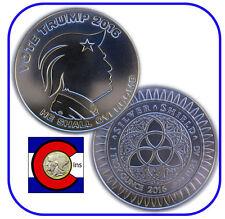 2016 Vote Trump 1 oz. Silver Round/Coin -- Silver Shield in airtite