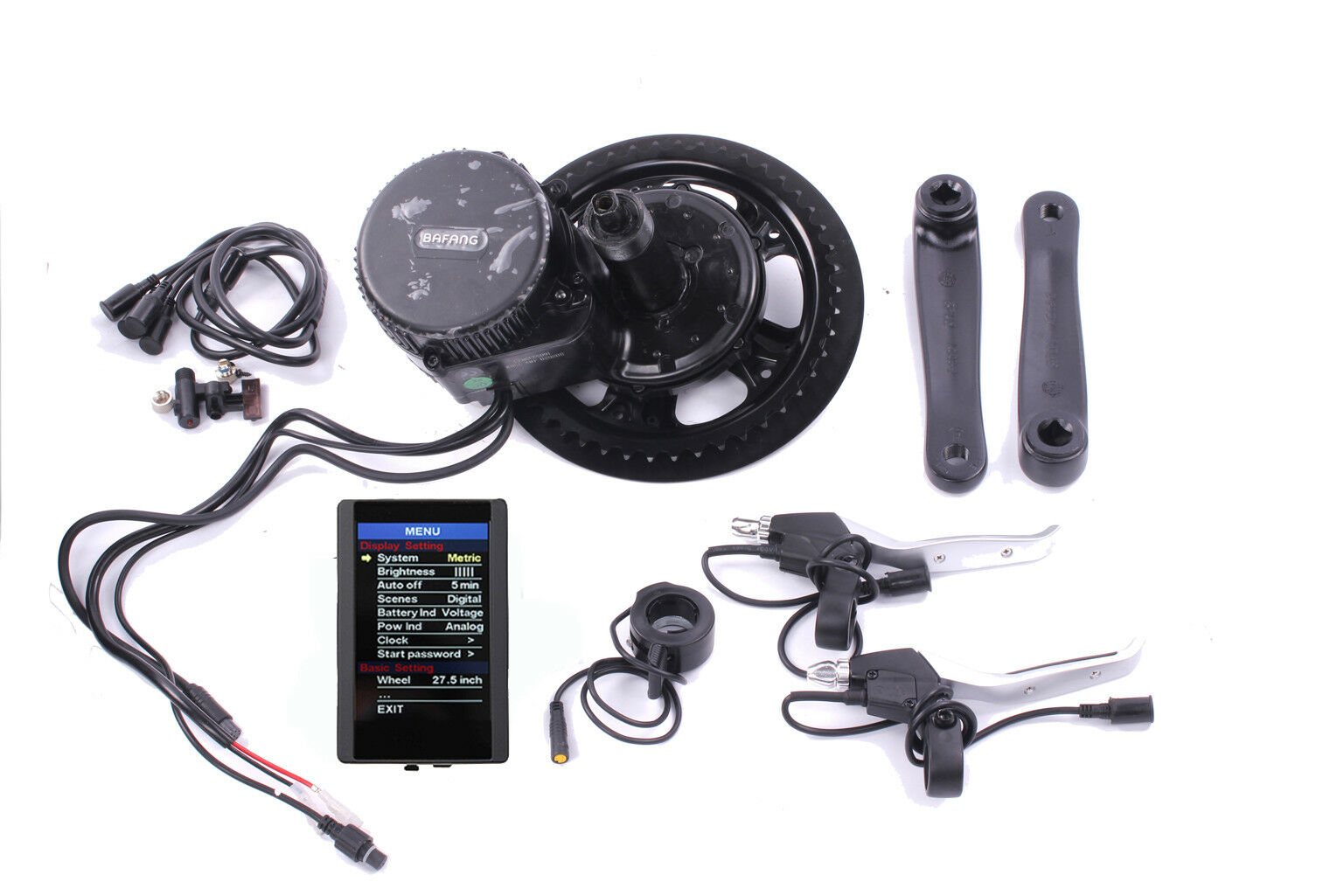 EFahrrad Umbausatz BAFANG 8FUN BBS02 500W 48V Mittelmotor Umbausatz Farbdisplay USB