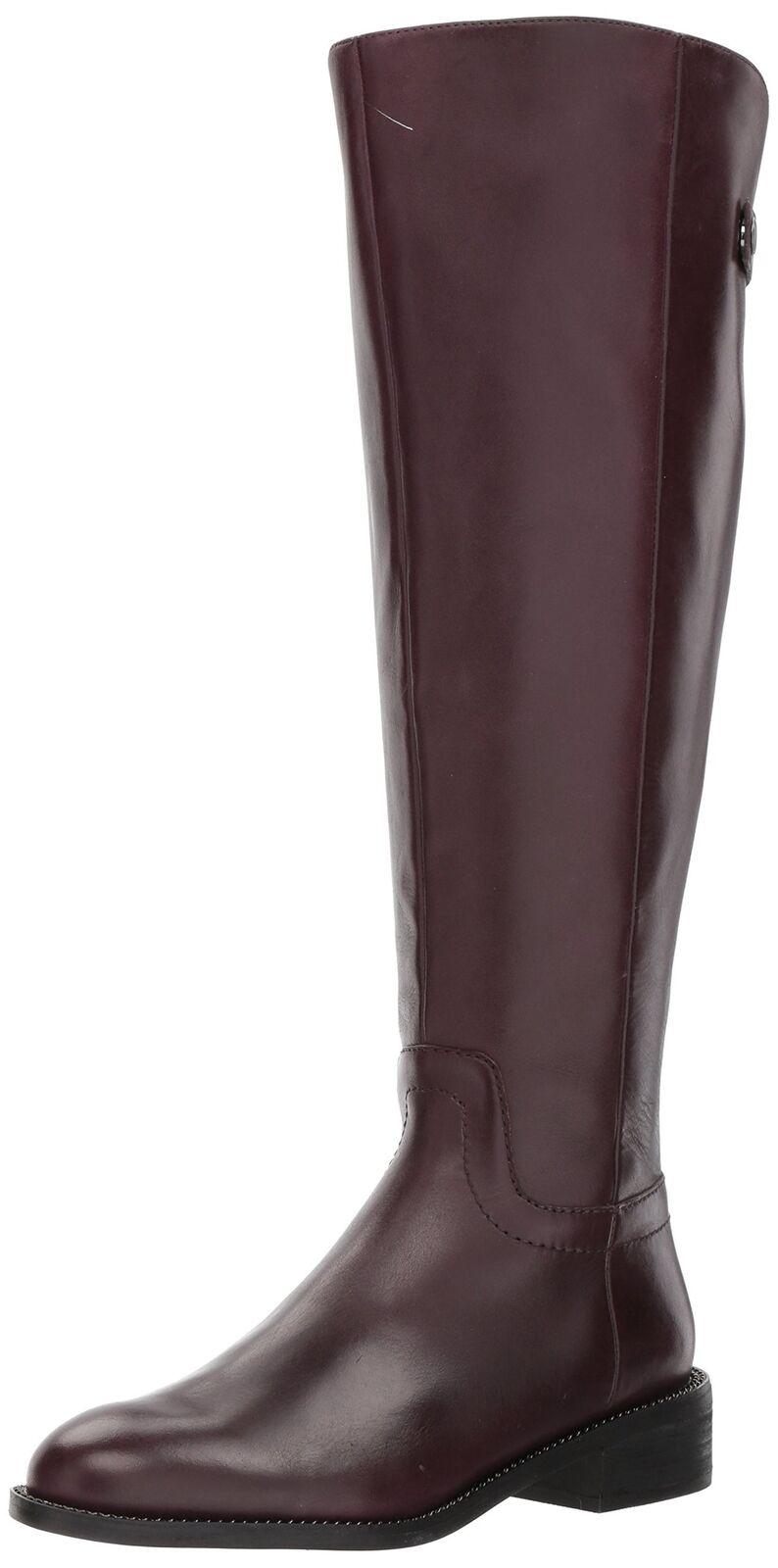 Franco Sarto Women's Brindley Wide Calf Boot, Dark Burgundy, 10 M US