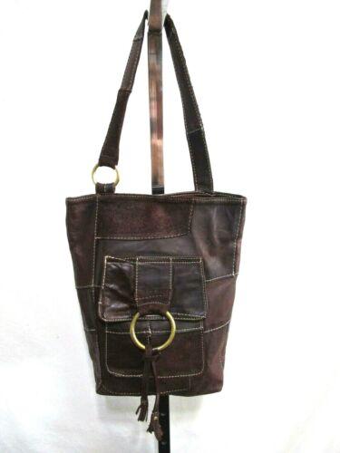 EUC! Marnie Bugs Medium Sz Brown Leather & Suede P