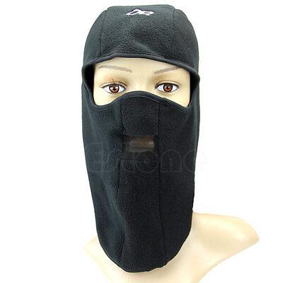 Mens Black Thermal Fleece Balaclava Neck Winter Ski Full Face Mask Cap Hat Cover