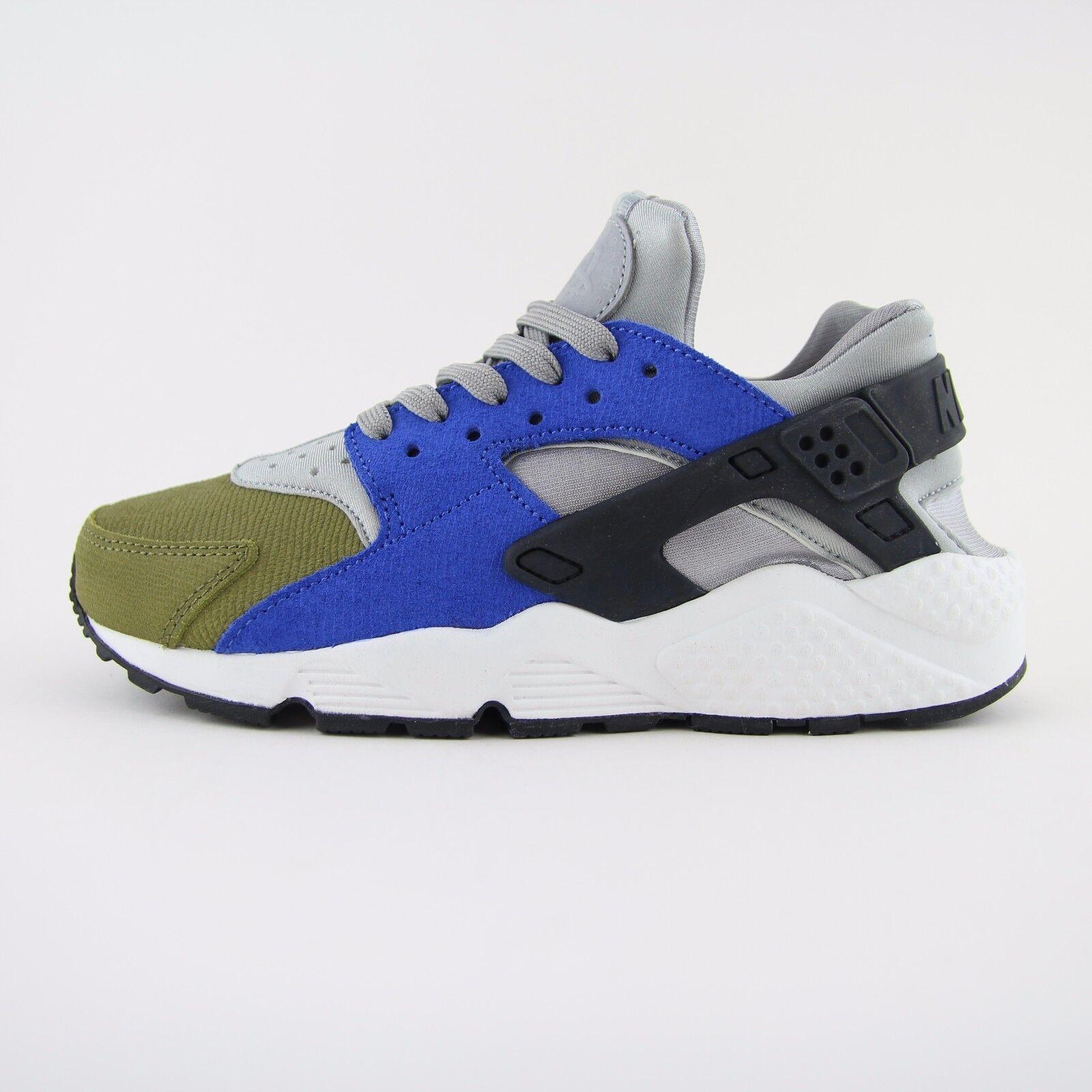 NEU Damenschuhe Kids Nike Air Huarache Run Premium Blau Trainers UK 4.5 BN 683818 007