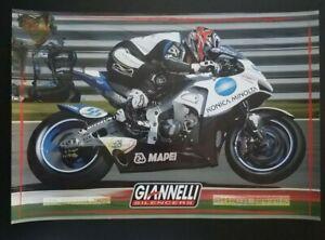 Vintage Original Poster Shinya Nakano 2007 MotoGP Konica Minolta Honda RC211V