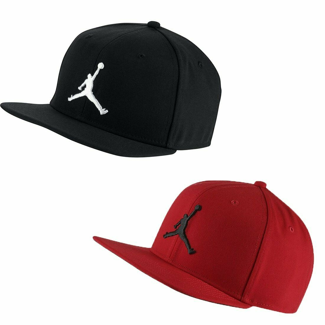 New Nike Unisex Jordan Pro Jumpman Snapback Cap//Hat Black//White AR2118-013