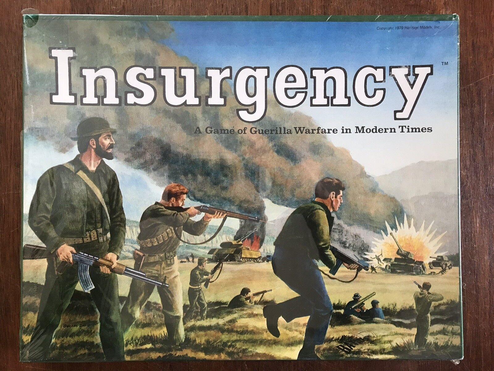 Board Game, Insurgency, Battleline, Heritage Models, Avalon Hill, 1979
