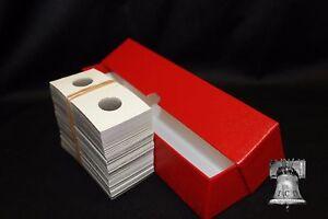 100 Cardboard Flips 2x2 Coin Holders Free Shipping New Half-Dollar