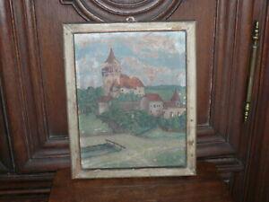 Rarität über100 Jahre altes Bild von H.Becker 1883 signiert Farbe auf Holzplatte