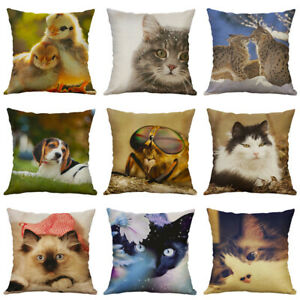 Animal-Throw-Sofa-18-034-Case-Pillow-Cover-Cushion-Cotton-Linen-New-Decor-Home
