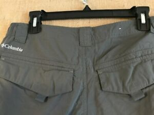 Columbia-Omni-Shade-men-s-gray-solid-flat-front-cargo-short-size-32-x-10-nylon