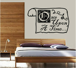 ONCE UPON A TIME STORYBOOK WALL DECOR DECAL STICKER