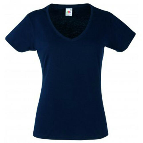 T-shirt Donna//Woman LADY-FIT Scollo a V FRUIT OF THE LOOM Maglietta Manica Corta