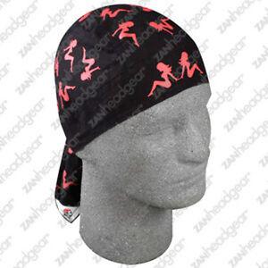 Red-Black-Mud-Flap-Girls-Doo-Rag-Headwrap-Skull-Cap-Biker-Trucker-Durag-ATV