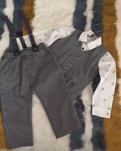 Pinokio Baby Boys Trousers Grey Grey