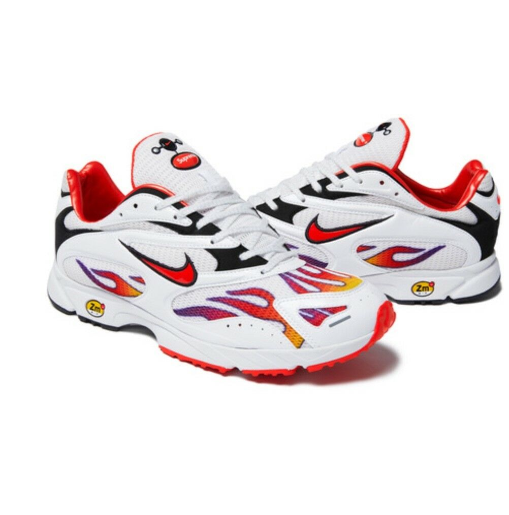 Supreme®/Nike® Air Streak Spectrum Plus White Box Logo Red Reflective Comfortable Special limited time