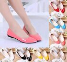 Womens Lady Summer Flat Ballet Casual Leather Shoes Candy Colors Pumps Shoes Hot