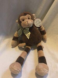 Soft Baby Lovey Stuffed Monkey 16 Stitches Bonkers Plush Little EH9IWYe2D