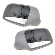 Grey Primed Wing Mirror Covers Volkswagen Polo 2002-2005 casing -PAIR