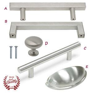 Cabinet-Drawer-Handles-Kitchen-Brushed-Nickel-Bar-Pulls-Square-Knob-Hardware
