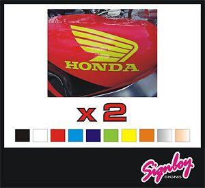 2-x-HONDA-Wings-Vinyl-Tank-Badges-Decals-Stickers-PREMIUM-QUALITY-Quad-etc