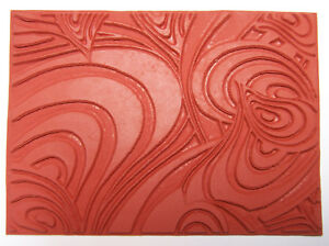 Swirl-Design-Unmounted-RUBBER-Texture-Stamp-Polymer-PMC-Paper-Clay-Molding-Mat