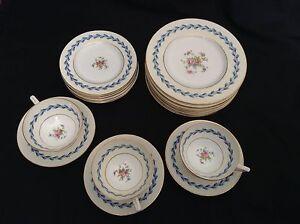 6-Pattern-S383-MINTONS-DESSERT-BREAD-PLATES-Bone-China-FLORAL-England-NICE