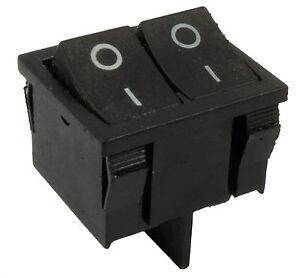 Off Interrupteur rectangle SPST 12V toutes les quantités Petit mini noir On