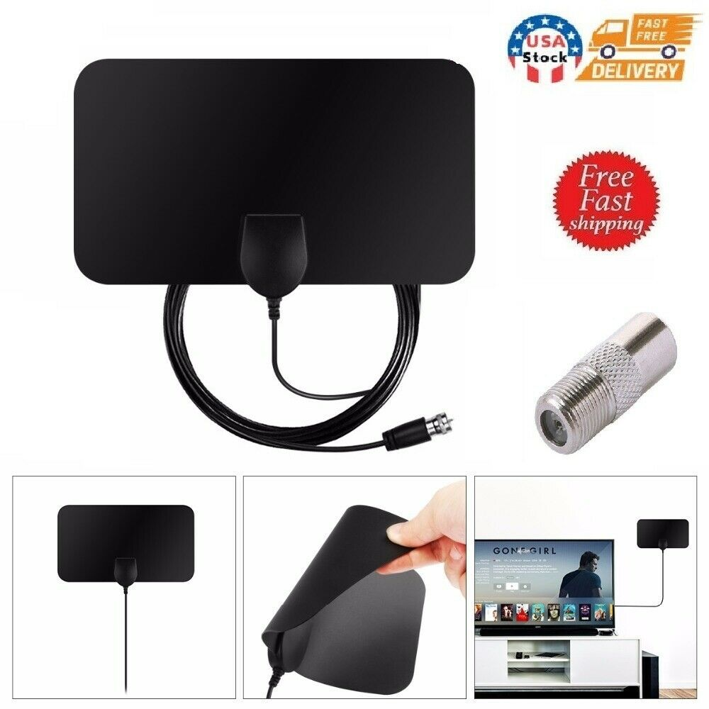 Digital TV Antenna Aerial Signal Amplified Indoor 4K 1080P HDTV 50Miles US. Available Now for 8.29