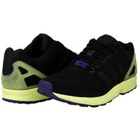 Mens Shoes Adidas Originals Zx Flux Trainers Casual Af6318 Rrp £75 Black Kicks