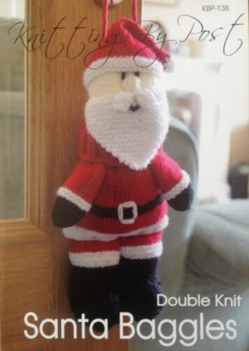 Knitting by Post Santa Baggles Toy Knitting Pattern