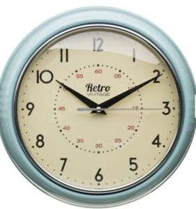 Retro Chunky Round Wall Clock Kitchen Diner Home