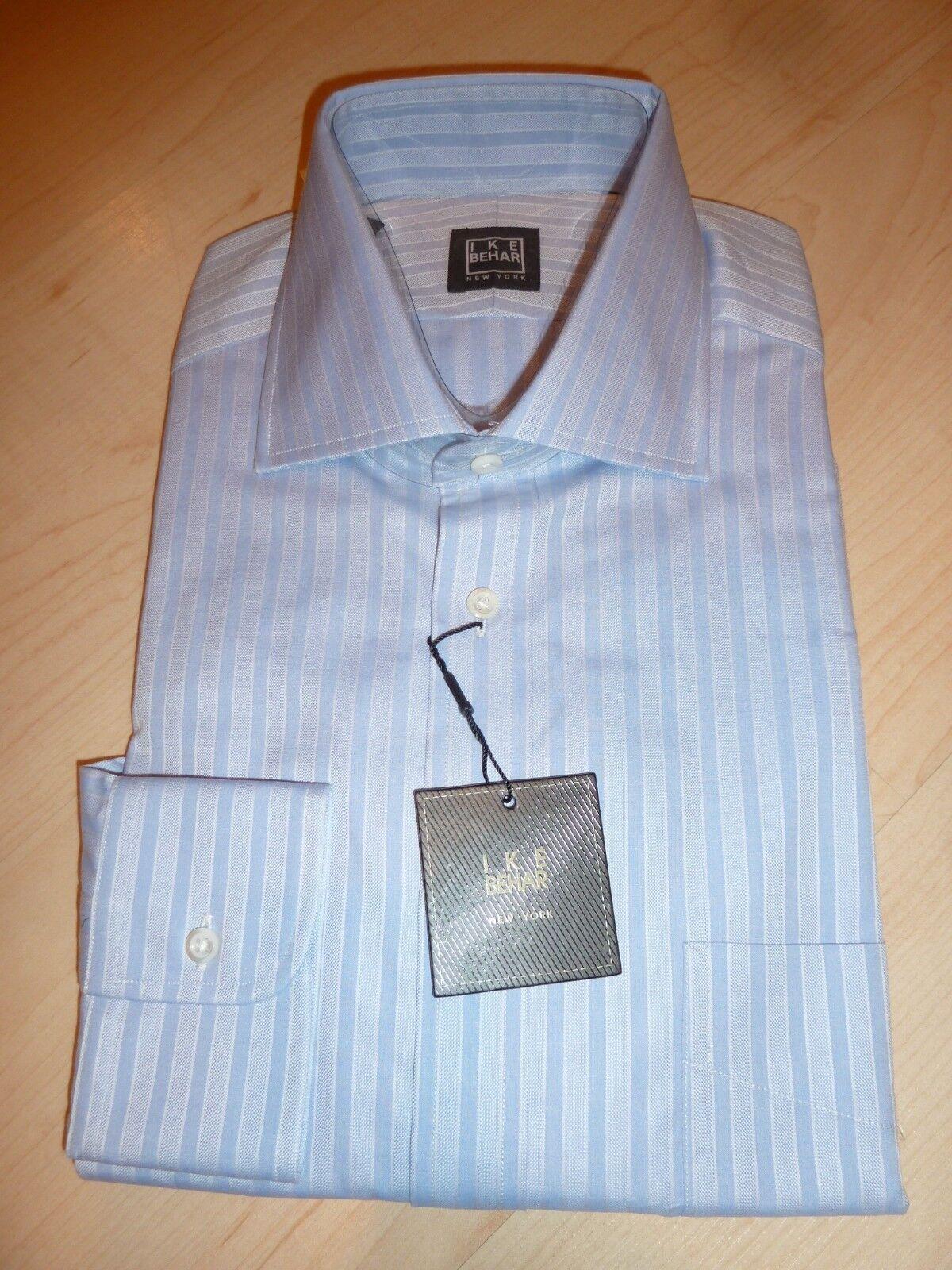 NEW  190 IKE BEHAR herren hemd Sz 15.5 34 35 NWT 100% baumwolle Blau BC 3
