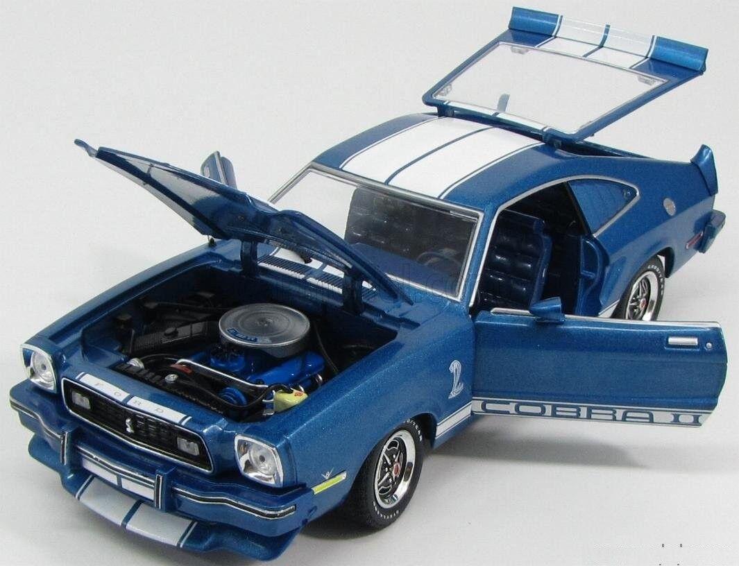 Ford mustang - cobra, blau - weiße streifen 1976 Grünlight 12894 1   18 blwu blau
