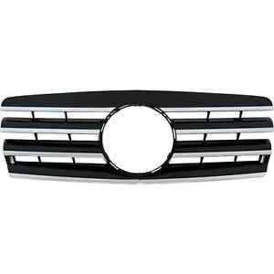 Kuehlergrill-Grill-Mercedes-W202-Bj-93-00-Sport-Paket-schwarz-mit-Chromleisten