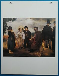 """Edouard Manet """"The Old Musician"""" Lithograph 50 French Impressionist Masterpieces"""