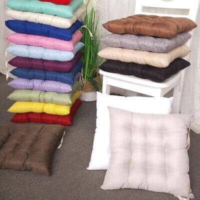 Tie On Chair Seat Pads Kitchen Seat Cushions Dining Garden Patio Indoor Outdoor | EBay