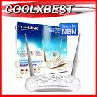 TP-LINK N300 WIRELESS MODEM ROUTER ADSL2+ NBN READY w USB PORT WiFi TD-W8968