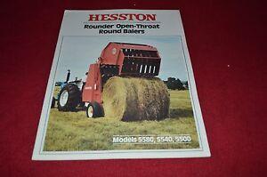 Hesston 5580 5540 5500 Round Baler Dealer's Brochure YABE1