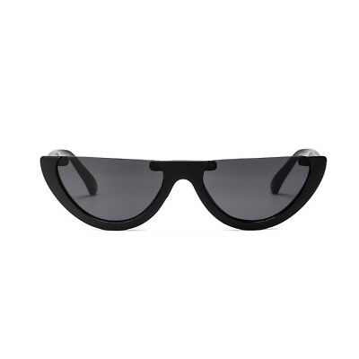 Women Vintage Half Frame Cat Eye Sunglasses Sexy Ladies Fashion Eyewear Retro Z