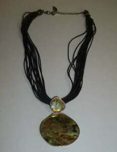 Coldwater-Creek-s-Corded-Abalone-Pendant-Necklace