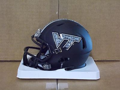 Virginia Tech Hokies NCAA MATTE BLACK Mini Helmet - NEW 2016 Speed Style