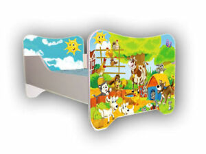Children-Bed-Bed-For-Girls-Boys-with-mattress-140x70cm-FREE-Gift
