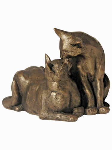 Frith Sculpture By Paul Jenkins Cold Cast Bronze S096 Felix /& Oscar Double Cat