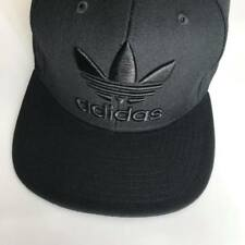 a65216bc935a1 Black Adidas Snapback Cap Trefoil Logo Brand New Unisex One Size Adults  Free PP