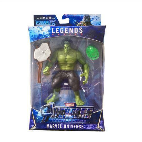 """UK 7/"""" MARVEL Avengers Endgame Iron Man Hulk Thanos LED Action Figures Weapon Toy"""