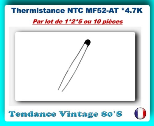 5/% *** *** lot of 1*2*5 or 10 resistance//temperature sensors mf52 4.7 k