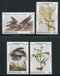 Constructif Barbade 1985 Oiseaux Birds Uccelli Renversée Audubon 638-641 Tamponné Neuf Sans Charnière De Nouvelles VariéTéS Sont Introduites Les Unes AprèS Les Autres