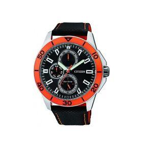 Citizen-Eco-Drive-Watch-AP4031-03E-Black-Nylon-Strap-42mm-Case-WR-10ATM-RRP-350